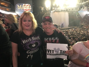 Lawrence attended Kiss: End of the Road World Tour on Feb 13th 2019 via VetTix