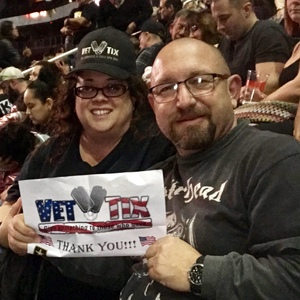 Kelly attended Kiss: End of the Road World Tour on Feb 13th 2019 via VetTix