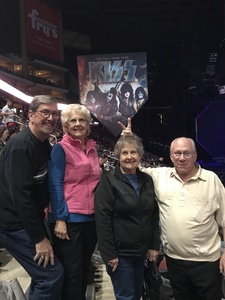 Timothy attended Kiss: End of the Road World Tour on Feb 13th 2019 via VetTix