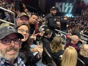 James attended Kiss: End of the Road World Tour on Feb 13th 2019 via VetTix