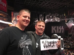 Marion attended Kiss: End of the Road World Tour on Feb 13th 2019 via VetTix