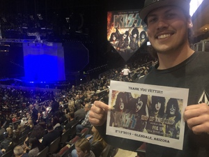 Keith attended Kiss: End of the Road World Tour on Feb 13th 2019 via VetTix
