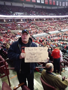 David attended Ohio State Buckeyes Men's Basketball vs. University of Illinois Fighting Illini - NCAA Men's Basketball on Feb 14th 2019 via VetTix