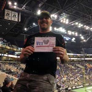 Richard attended Arizona Rattlers vs. Cedar Rapids River Kings - IFL on Mar 3rd 2019 via VetTix