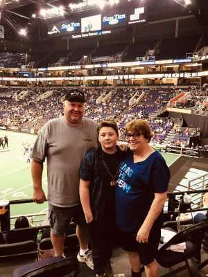 Allen attended Arizona Rattlers vs. Cedar Rapids River Kings - IFL on Mar 3rd 2019 via VetTix