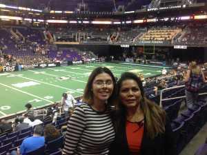 Janice attended Arizona Rattlers vs. Sioux Falls Storm - IFL on Mar 31st 2019 via VetTix