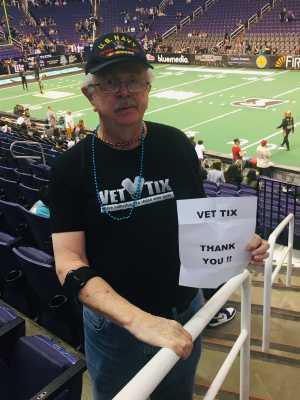Robert attended Arizona Rattlers vs. Tucson Sugar Skulls - IFL on Mar 16th 2019 via VetTix