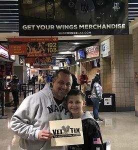 Gary B. attended Philadelphia Wings vs. New England Black Wolves - National Lacrosse League on Feb 16th 2019 via VetTix