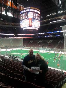 Bentham attended Philadelphia Wings vs. New England Black Wolves - National Lacrosse League on Feb 16th 2019 via VetTix