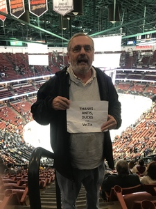 Michael attended Anaheim Ducks vs. Boston Bruins - NHL - Antis Roofing Community Corner on Feb 15th 2019 via VetTix