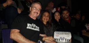 Tom attended UFC Fight Night on Feb 17th 2019 via VetTix
