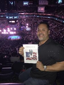 Jose Chavez Sr attended UFC Fight Night on Feb 17th 2019 via VetTix