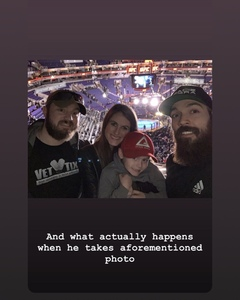 joshua attended UFC Fight Night on Feb 17th 2019 via VetTix