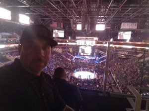 Richard attended UFC Fight Night on Feb 17th 2019 via VetTix