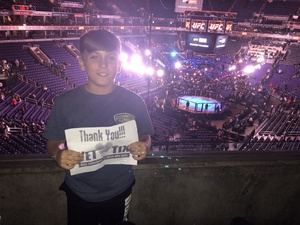Keith attended UFC Fight Night on Feb 17th 2019 via VetTix