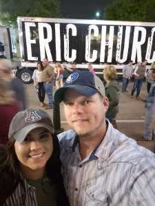 Sarah attended Eric Church: Double Down Tour - Country on Apr 12th 2019 via VetTix