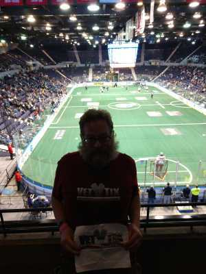Thomas attended Rochester Knighthawks vs. Calgary Roughnecks - National Lacrosse League on Mar 23rd 2019 via VetTix