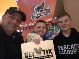 Gary attended New England Black Wolves vs. Colorado Mammoth - National Lacrosse League on Mar 3rd 2019 via VetTix