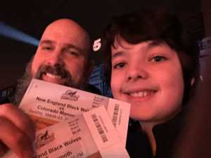 SHAUNE attended New England Black Wolves vs. Colorado Mammoth - National Lacrosse League on Mar 3rd 2019 via VetTix