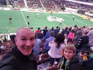 Bryan attended New England Black Wolves vs. Colorado Mammoth - National Lacrosse League on Mar 3rd 2019 via VetTix