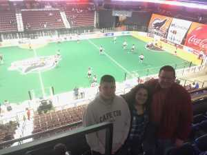 Joseph attended New England Black Wolves vs. Colorado Mammoth - National Lacrosse League on Mar 3rd 2019 via VetTix