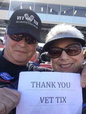 Alan attended TicketGuardian 500 - KB100 - Kurt Busch Fan Appreciation Tickets on Mar 10th 2019 via VetTix