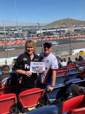 Sherry attended TicketGuardian 500 - KB100 - Kurt Busch Fan Appreciation Tickets on Mar 10th 2019 via VetTix