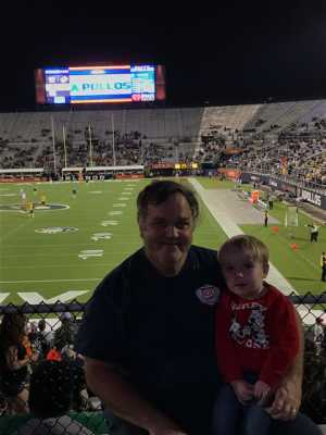Walter attended Orlando Apollos vs. Arizona Hotshots - Professional on Mar 16th 2019 via VetTix