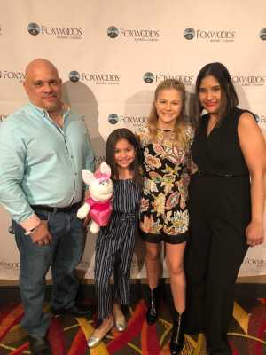 Jose attended Darci Lynne and Friends: Fresh out of the Box - *See Notes on Mar 2nd 2019 via VetTix