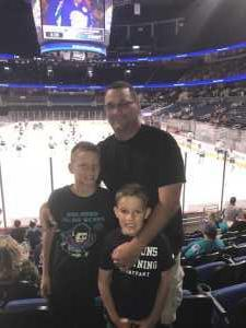 Brian attended Orlando Solar Bears vs. Florida Everblades - ECHL - Military Appreciation Night on Mar 2nd 2019 via VetTix