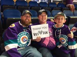 Elizabeth attended Orlando Solar Bears vs. Florida Everblades - ECHL - Military Appreciation Night on Mar 2nd 2019 via VetTix