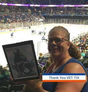 Margaret attended Orlando Solar Bears vs. Florida Everblades - ECHL - Military Appreciation Night on Mar 2nd 2019 via VetTix