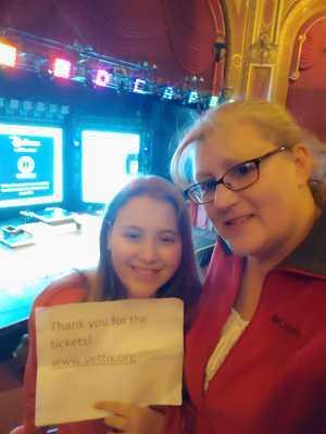 Brenda attended Disney Dcappella on Mar 5th 2019 via VetTix