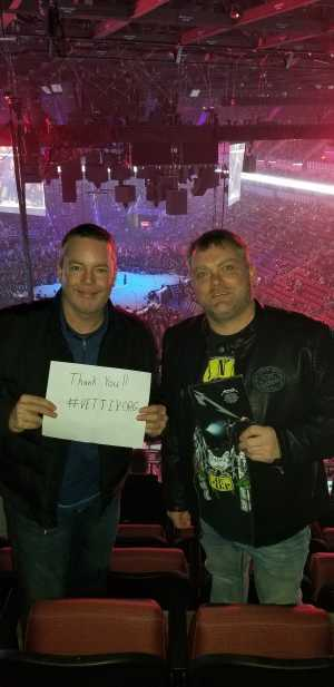 Chad attended Metallica - Worldwired Tour on Mar 4th 2019 via VetTix