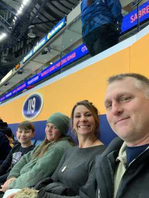 Catrina attended Buffalo Sabres vs. Edmonton Oilers - NHL on Mar 4th 2019 via VetTix