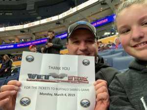 John attended Buffalo Sabres vs. Edmonton Oilers - NHL on Mar 4th 2019 via VetTix