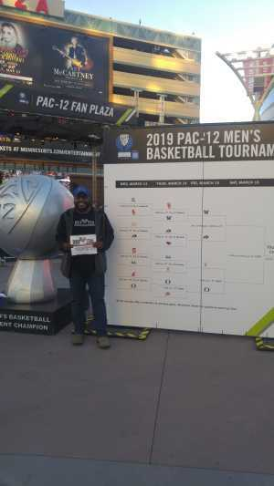 Perry attended Pac-12 Men's Basketball Tournament - Session 4 on Mar 14th 2019 via VetTix