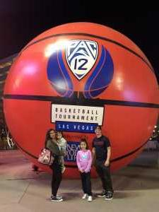 Orlando attended Pac-12 Men's Basketball Tournament - Session 6 on Mar 16th 2019 via VetTix