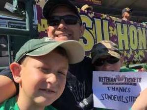 David attended Honor Row - Arizona State University Sun Devils vs. Washington State - NCAA Men's Baseball - Sunday on Mar 17th 2019 via VetTix