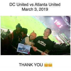 Christina attended DC United vs. Atlanta United - Home Opener - MLS on Mar 3rd 2019 via VetTix