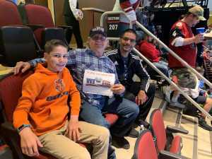 James attended Arizona Coyotes vs. Los Angeles Kings - NHL on Apr 2nd 2019 via VetTix