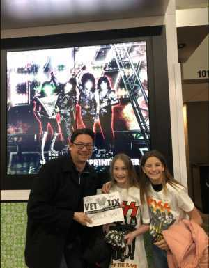 Micheal attended Kiss End of the Road World Tour on Feb 27th 2019 via VetTix