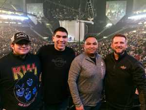 Mike attended Kiss End of the Road World Tour on Feb 27th 2019 via VetTix