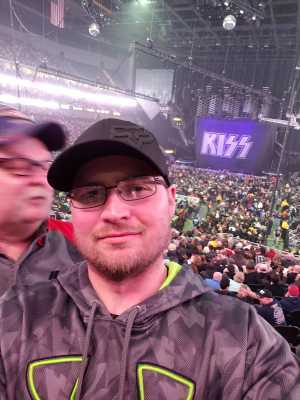Aron attended Kiss End of the Road World Tour on Feb 27th 2019 via VetTix