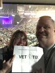 Dennis attended Kiss End of the Road World Tour on Feb 27th 2019 via VetTix