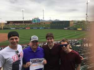 Roger attended Colorado Rockies vs. Oakland Athletics   - MLB Spring Training on Mar 11th 2019 via VetTix