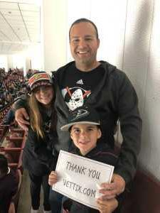 Chris attended Anaheim Ducks vs. Montreal Canadiens - NHL on Mar 8th 2019 via VetTix