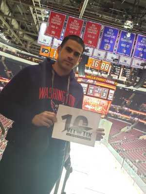 Justin attended Philadelphia Flyers vs. Washington Capitals - NHL on Mar 6th 2019 via VetTix