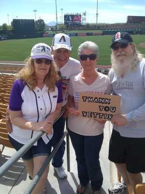 Daniel attended Chicago White Sox vs. Arizona Diamondbacks - MLB Spring Training on Mar 20th 2019 via VetTix