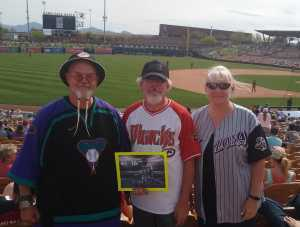 Sorex attended Chicago White Sox vs. Arizona Diamondbacks - MLB Spring Training on Mar 20th 2019 via VetTix